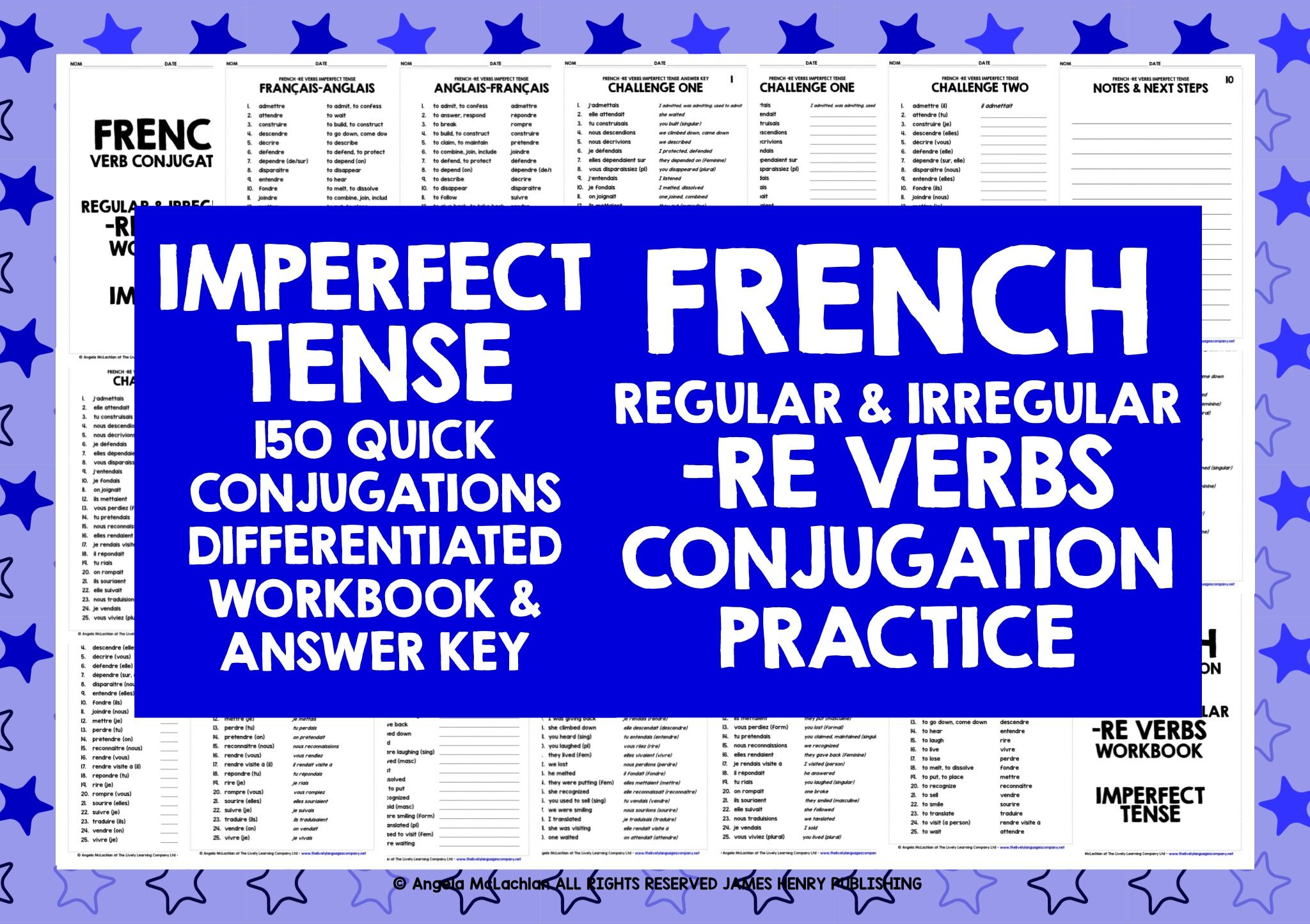 French Re Verbs Imperfect Tense