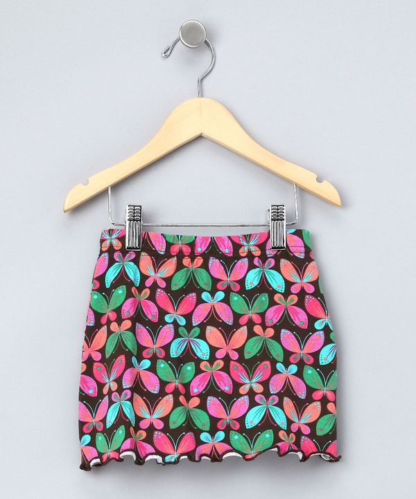 Look at this Brown Butterfly Skirt - Toddler