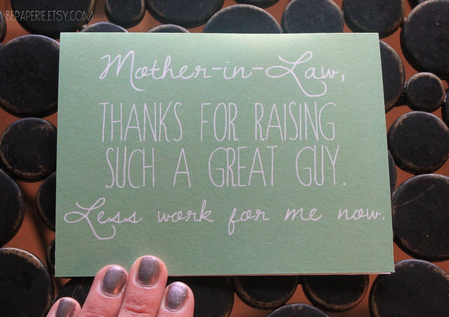 Mother In Law Card Mothers Day Card Mom Birthday By Bepaperie