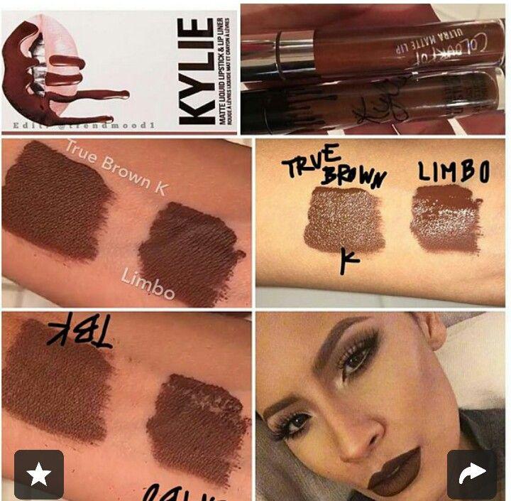 kylie jenners true brown vs colour pops