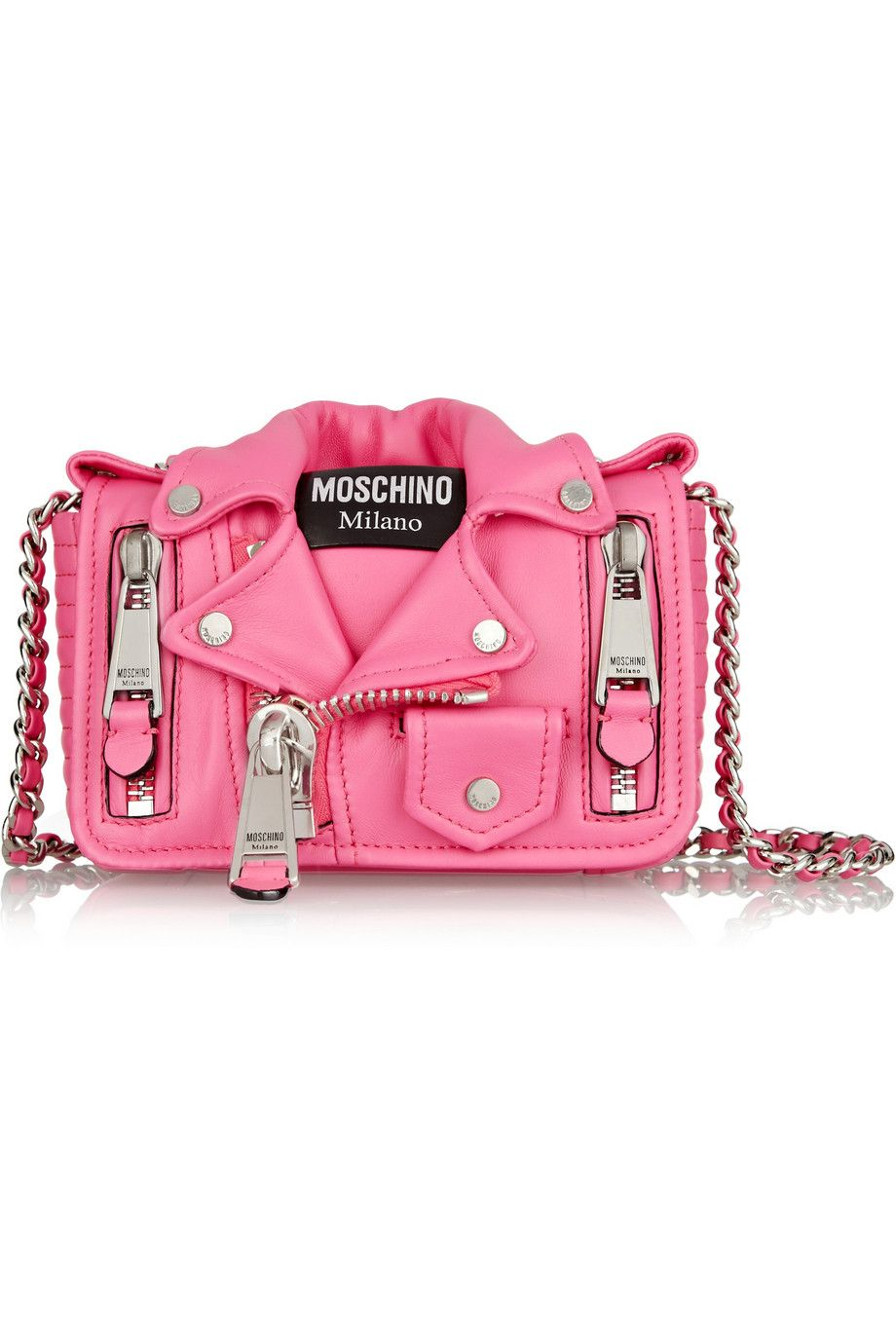 bf51a483949eb Moschino | Leather Jacket shoulder bag | NET-A-PORTER.COM | Super ...