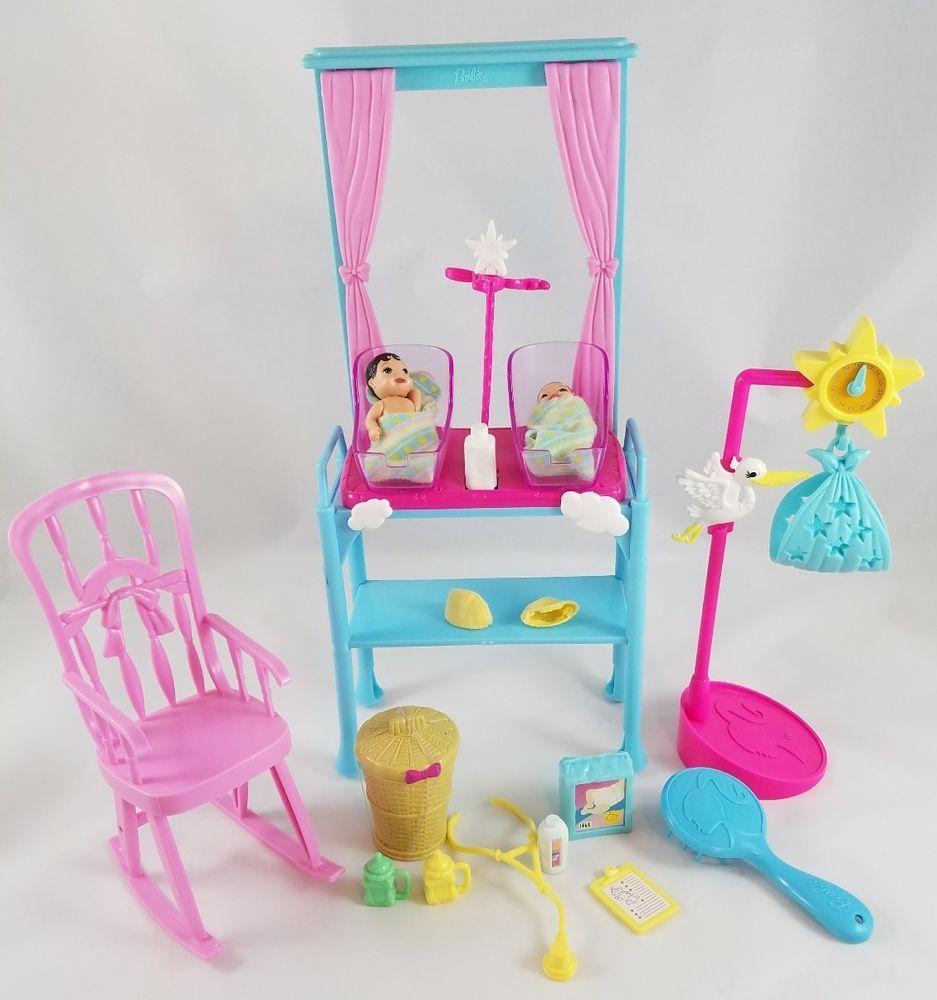 Barbie I Can Be Newborn Baby Doctor Nursery Set Babies