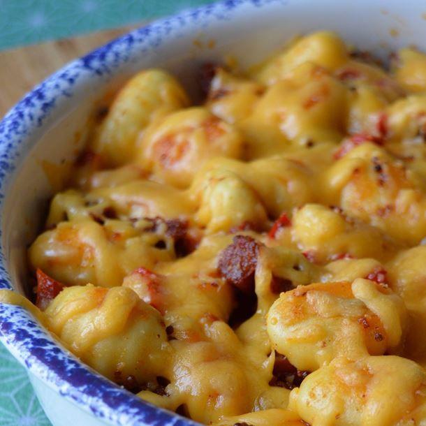 Gratin de gnocchis au chorizo recettes des toqu s de - Cuisiner des gnocchis ...