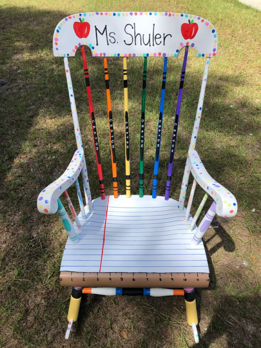 Diy teacher rocking chair in 2020 teacher rocking chairs