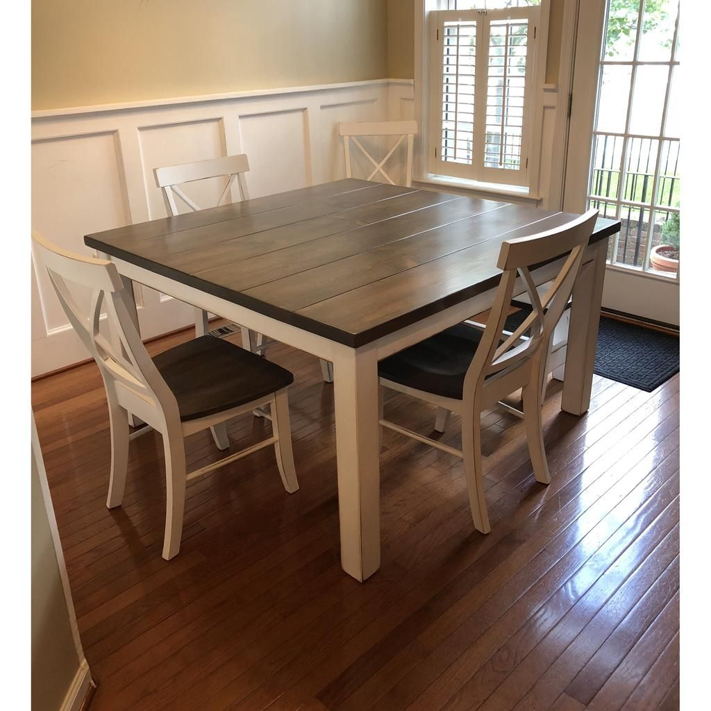 Graham square farmhouse table pine in 2020 square