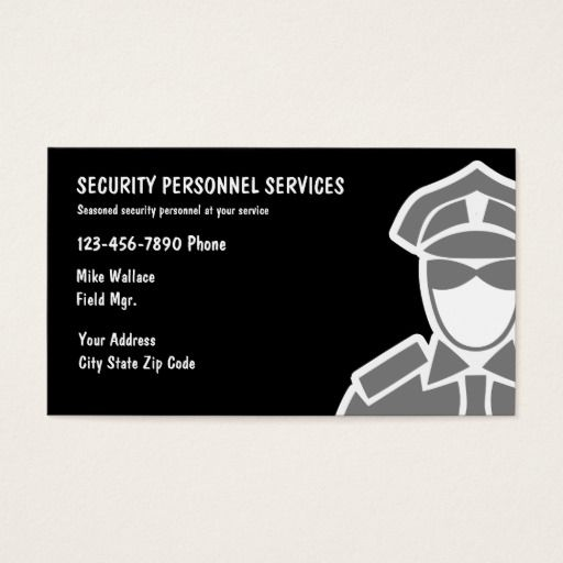 Security Services Business Cards Zazzle Com With Images