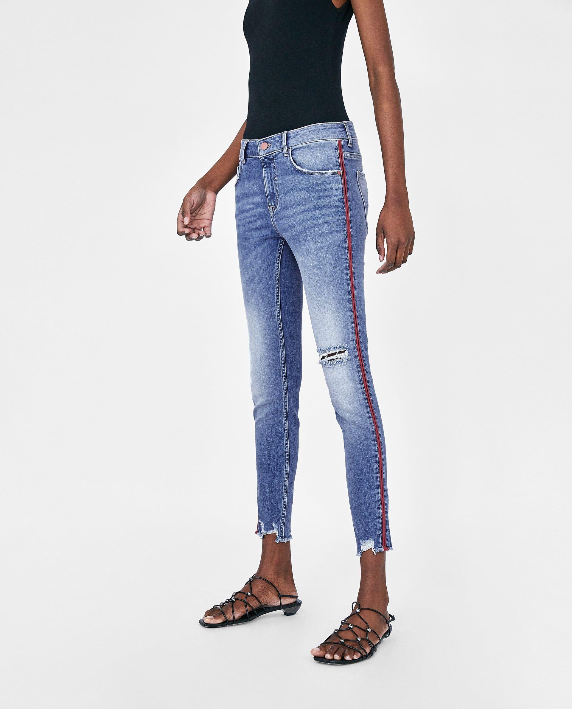ff6814b6f0d JEANS Z1975 BANDA LATERAL-Ver Todo-JEANS-MUJER | ZARA México | Jeans ...