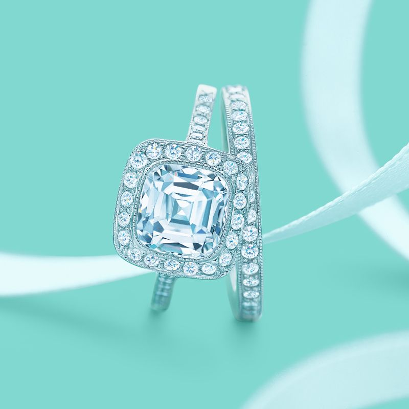 Tiffany Legacy 174 Engagement Ring With Diamond Band