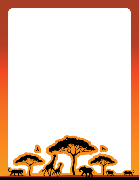 An African-safari themed page border. Free downloads at ...
