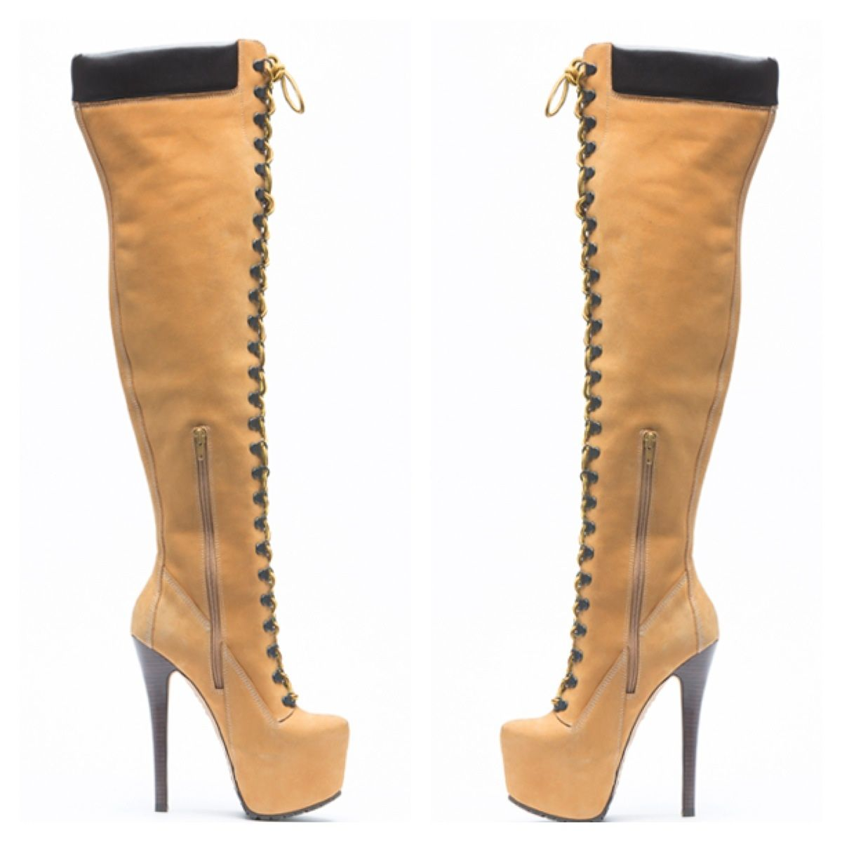 Timberland High Heel Boots | Lace up