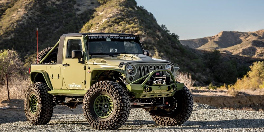 Green Iguana 14 Jeep Wrangler Sport Truck Conversion