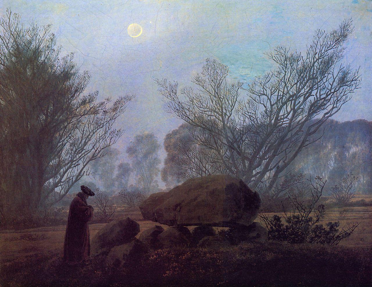 Caspar David Friedrich - Spaziergang in der Abenddämmerung, ca. 1835
