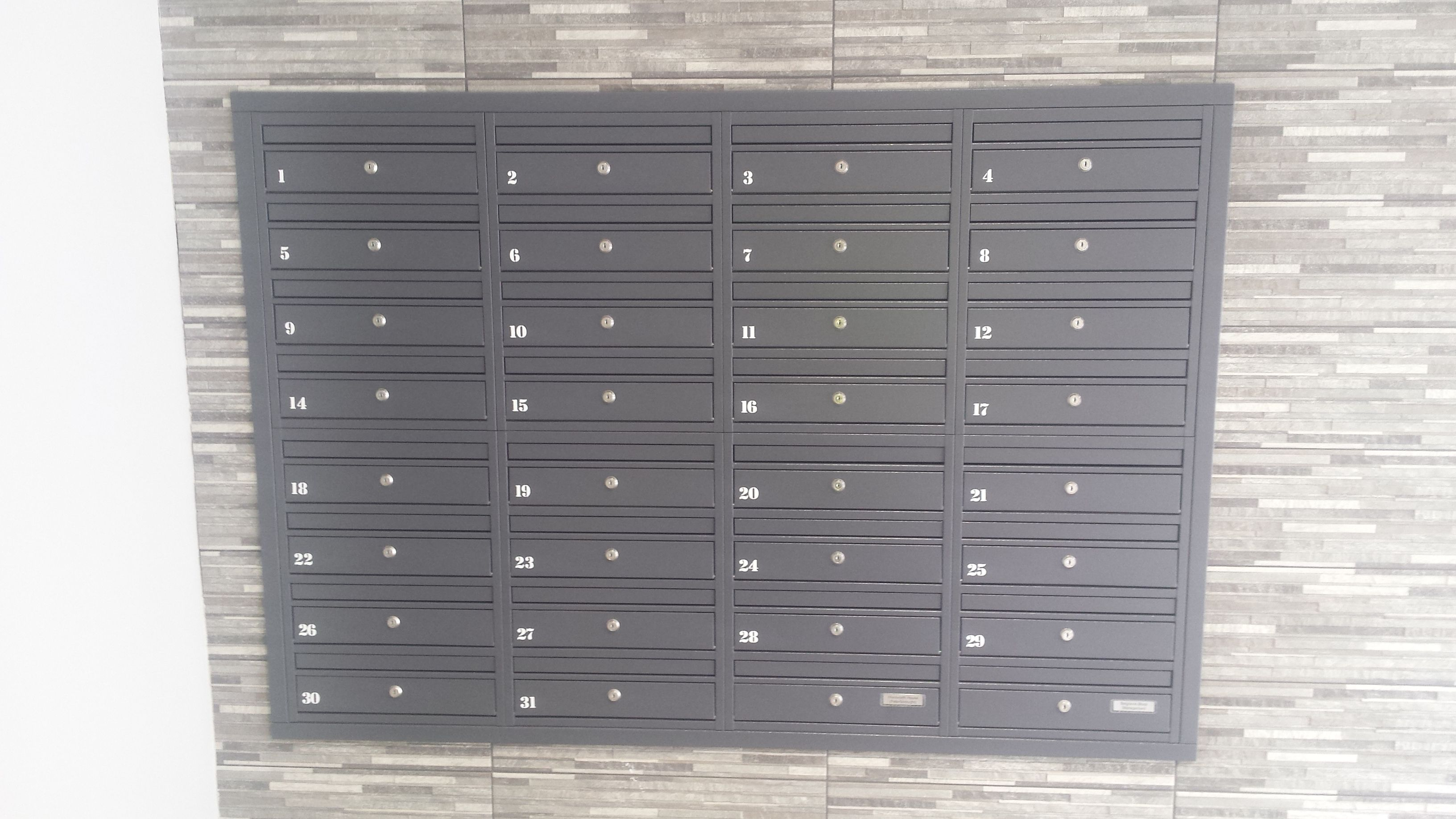Our Wall Mounted E1 Letterboxes Used Ad Recessed Mounted