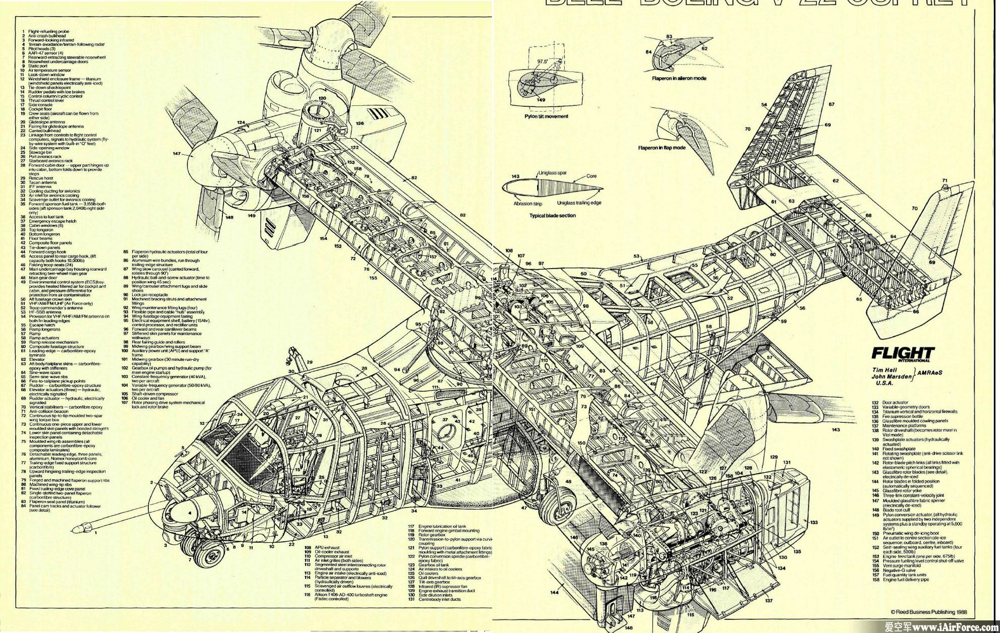 v 22 osprey cutaway aerospace cutaways and diagrams Osprey Drawing