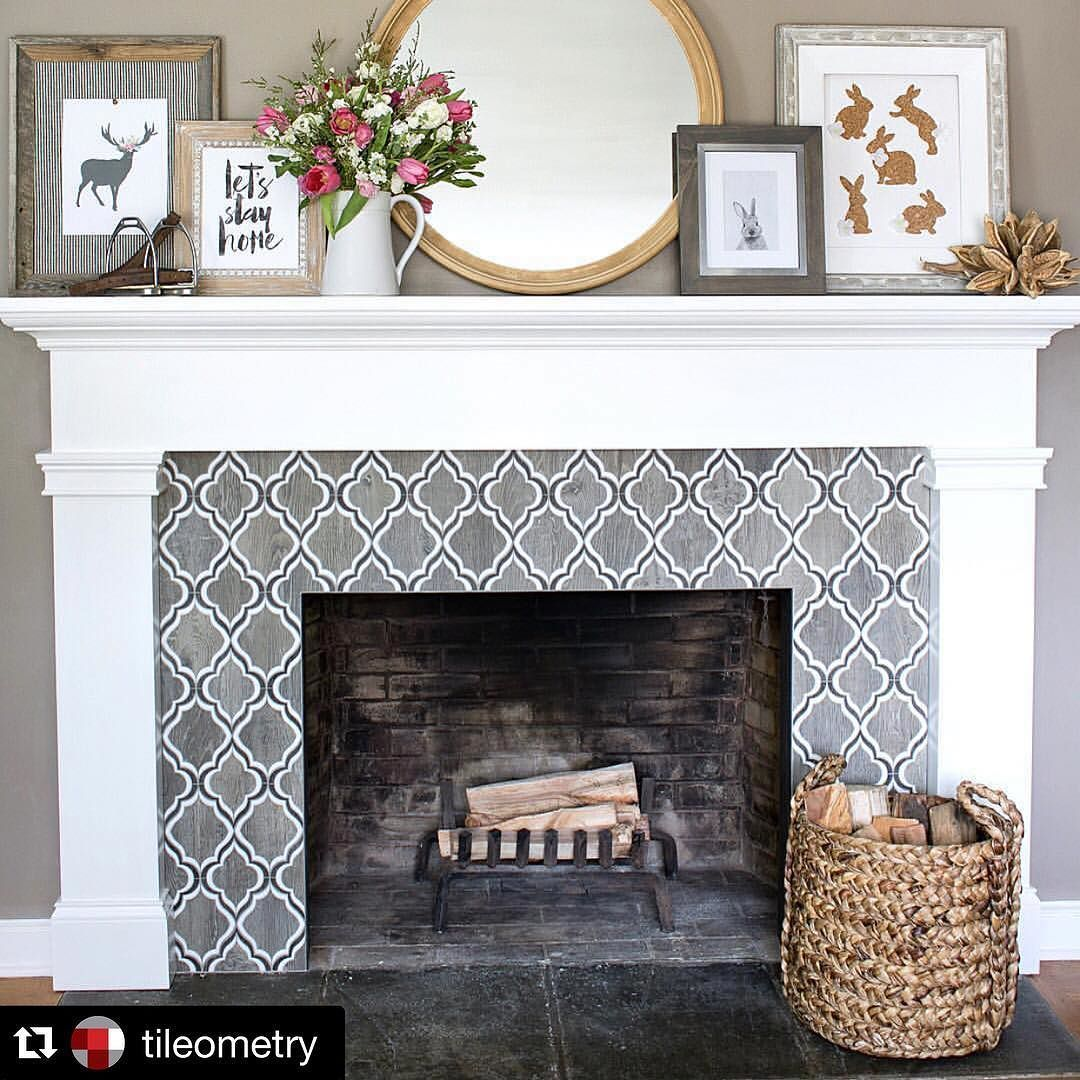 For the fireplace renovate pinterest living rooms for Stylish options for fireplace tile ideas