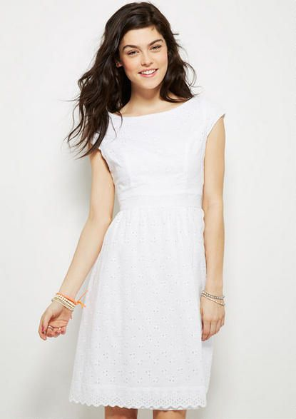 ebea25aed914 Graduation maybe  Lillie Eyelet Dress - Lace - Dresses - Clothing ...