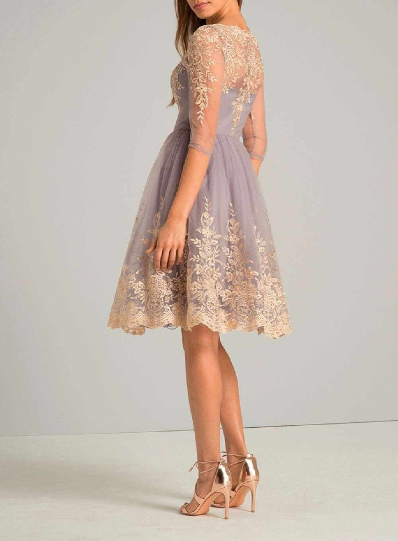 Womens Chi Chi London Lilac Baroque Tea Dress  Lilac   Dresses ...