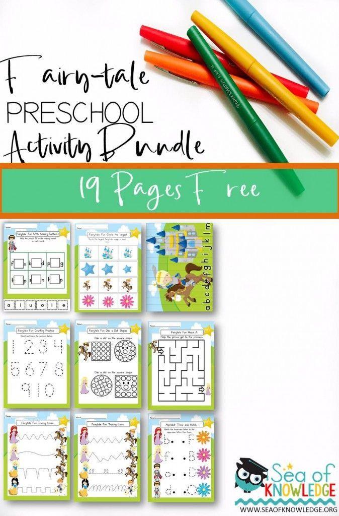 Preschool Fairy-tale Activity Bundle Free   Creative Teaching ...