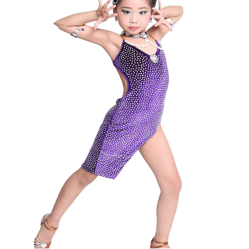 d435a6afc3fe Cheap Latin, Buy Directly from China Suppliers:Kid Children Professional  Latin Dance Dress For Girls Female Salsa Dance Dresses Ballroom Costumes  Sexy Tango ...