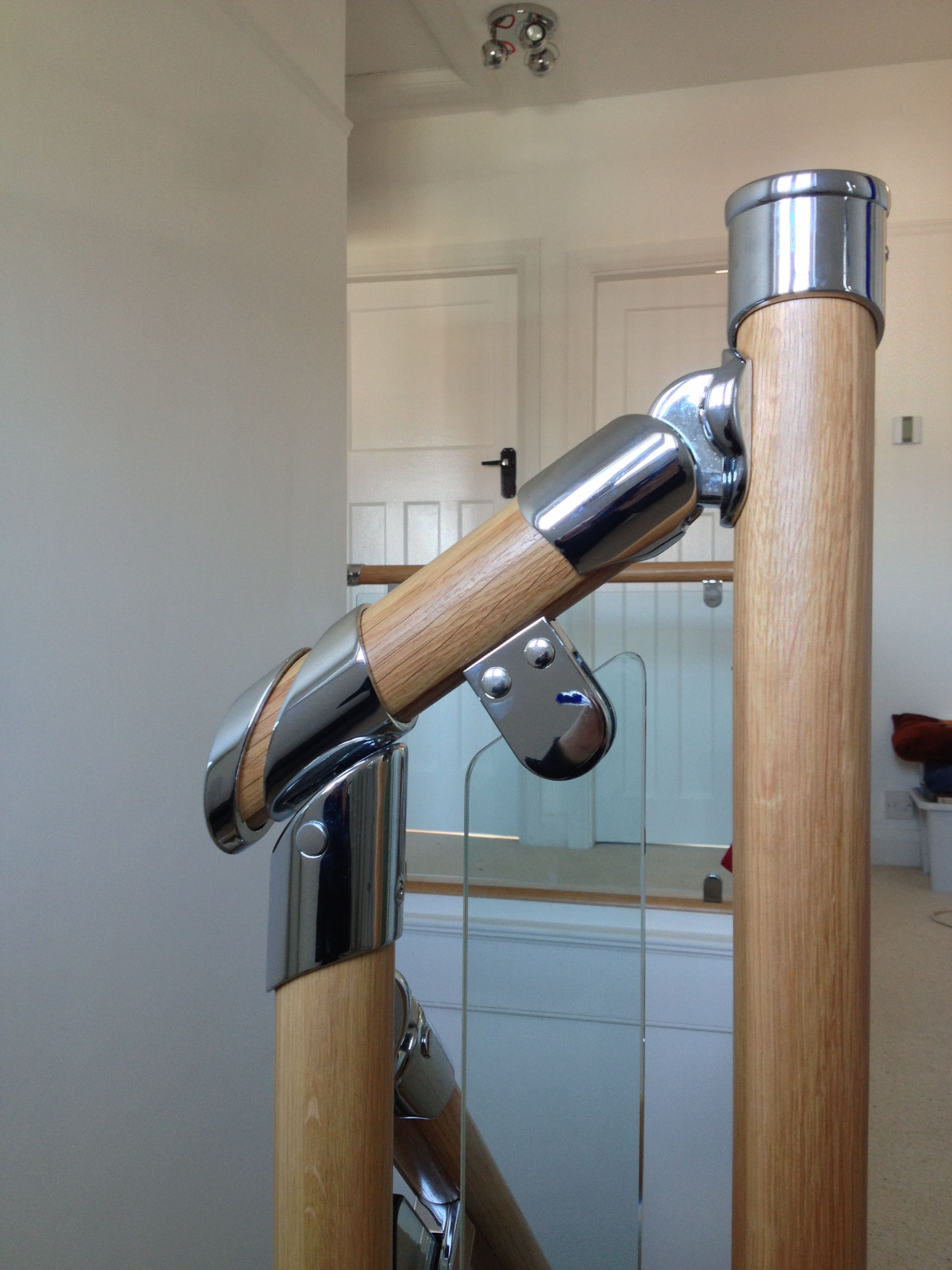 Best Chrome Glass Clamps With Glass Balustrade Glass Stairs 400 x 300