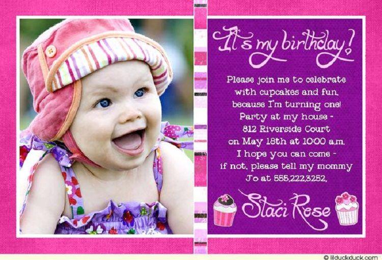Pink Birthday Invitation Matter In Marathi Font