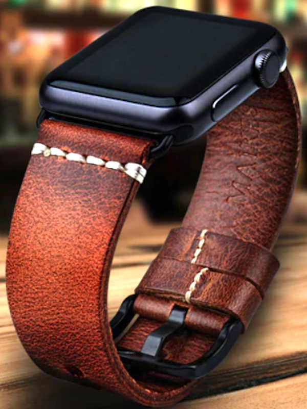 Apple Watch Leder Armband Echtleder Handgefertigt Vintage Look Apple Watch Series Apple Watch Leather Strap Apple Watch Leather Luxury Watches For Men