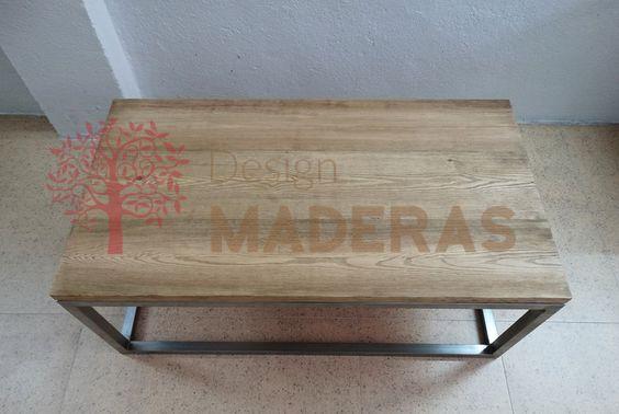Mesa de centro de madera maciza de pino tablero - Tableros madera maciza ...