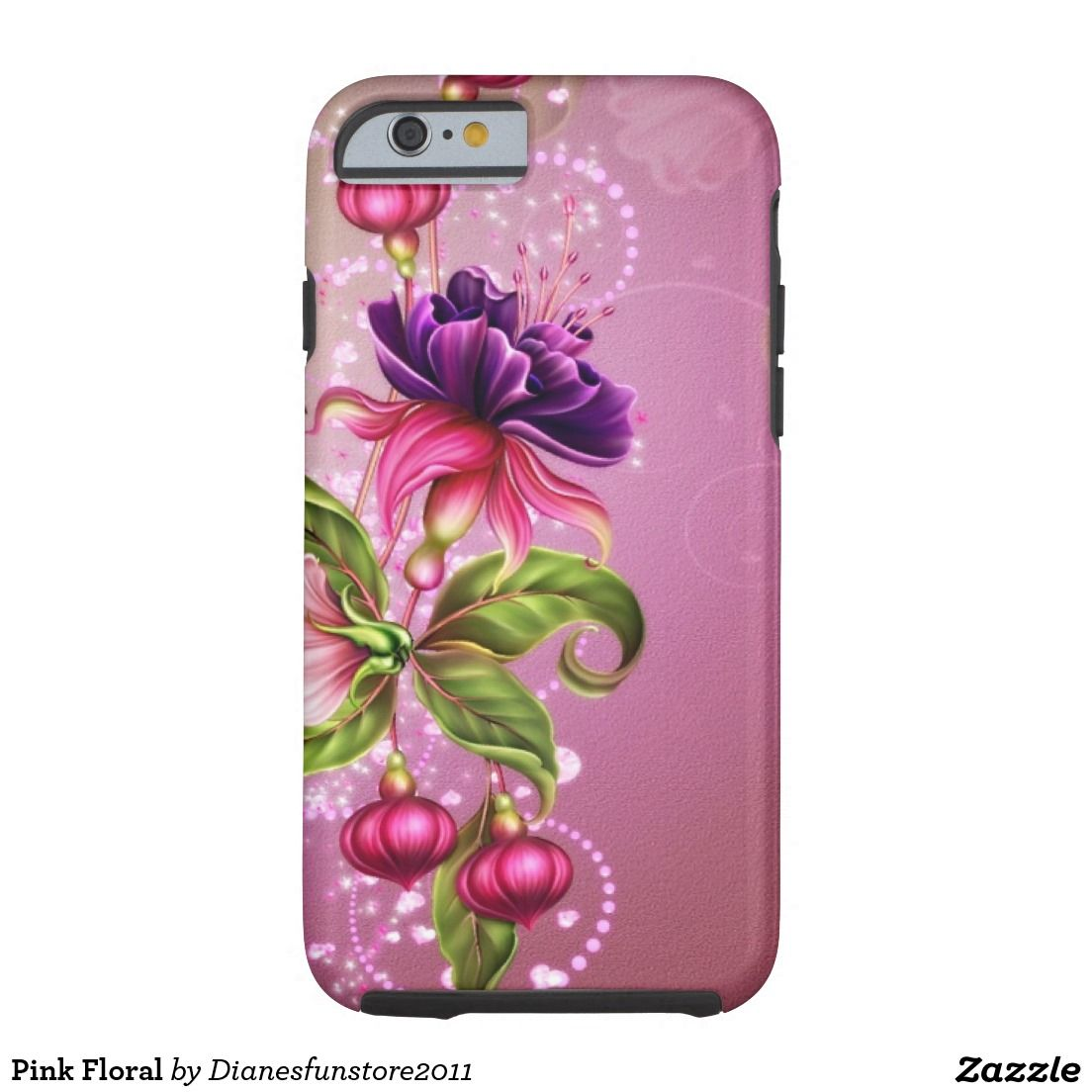 Pink Floral Tough iPhone 6 Case