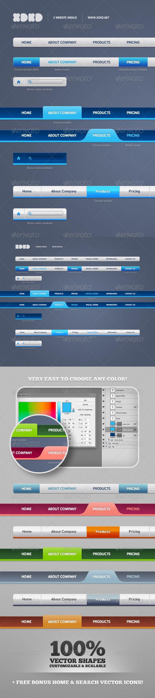 3 website menus navigation bars web elements navigation bar