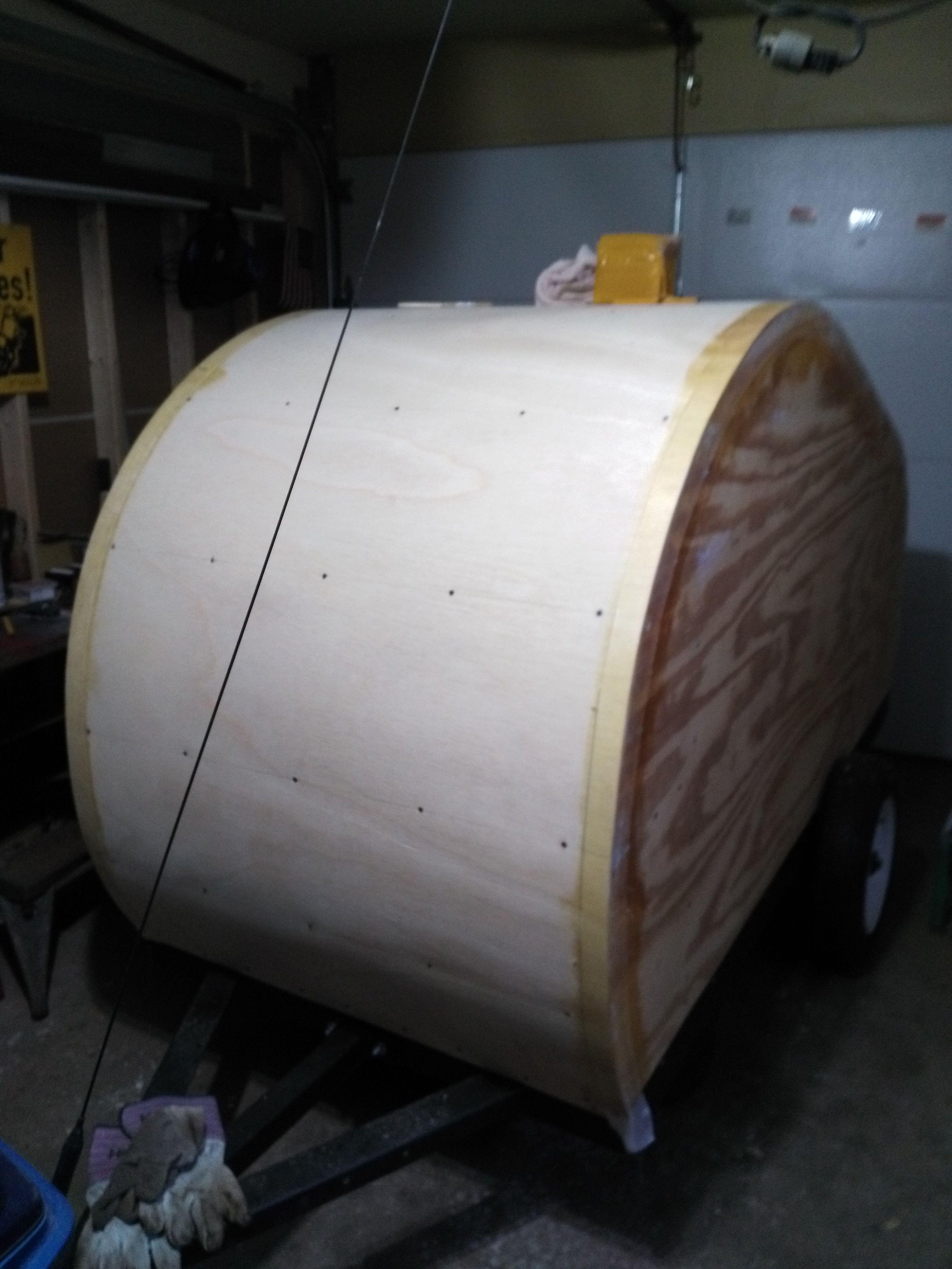 Fiberglassing Reinforcement Glass Tape Plywood Sheets Teardrop Camper