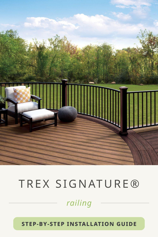 Trex Signature® Railing Install Guide in 2020 | Railing ...