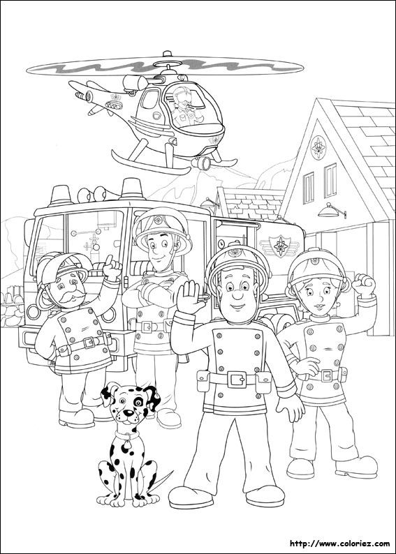 Coloriage Camion Pompier A Imprimer A Colorier Dessin A Imprimer Fireman Sam Birthday Party Fireman Sam Coloring Pages