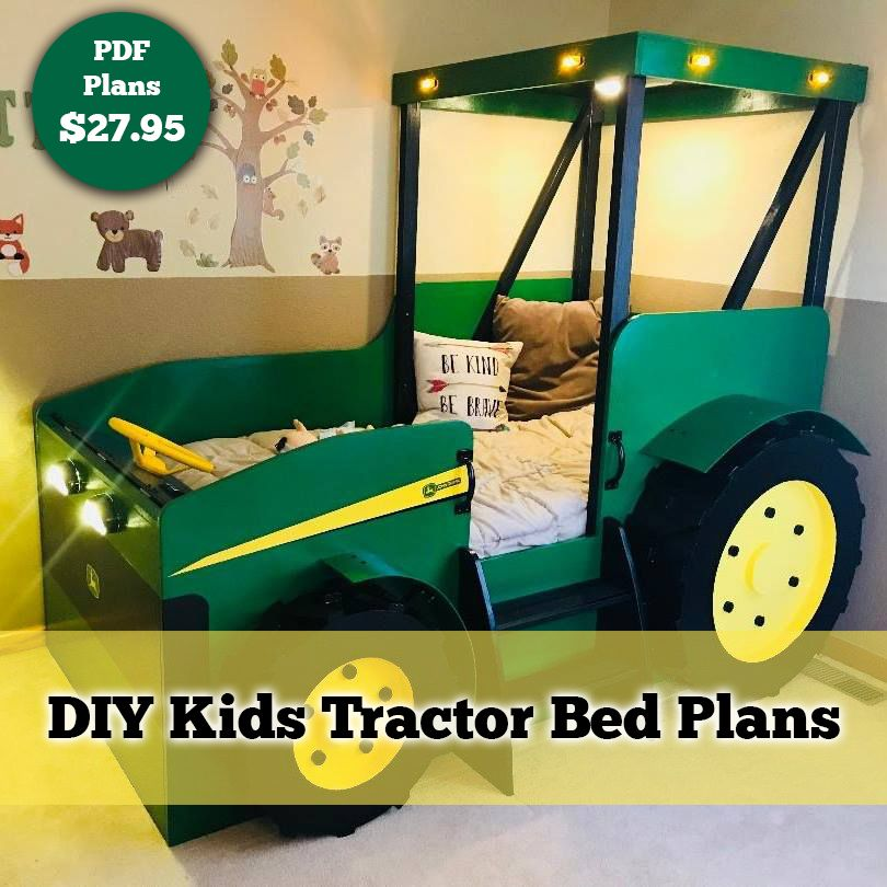 Tractor Bed Plans Pdf Format Create A Farm Themed Bedroom For