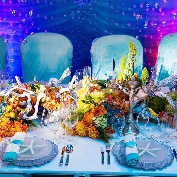 Little Mermaid Centerpiece Ideas Wedding: This Amazing Disney's Fairy Tale Wedding Reception