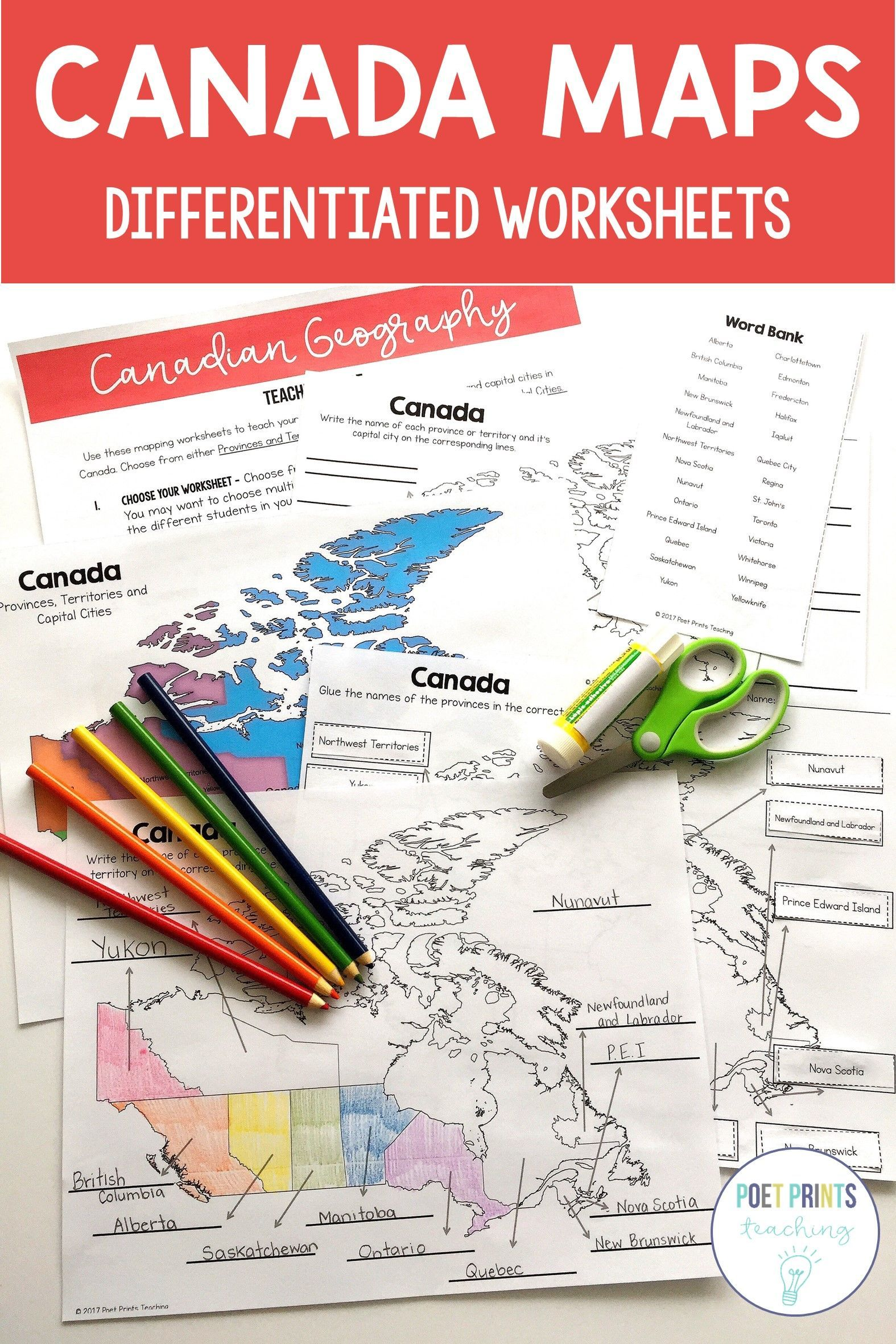Canada Maps Canadian Provinces And Territories
