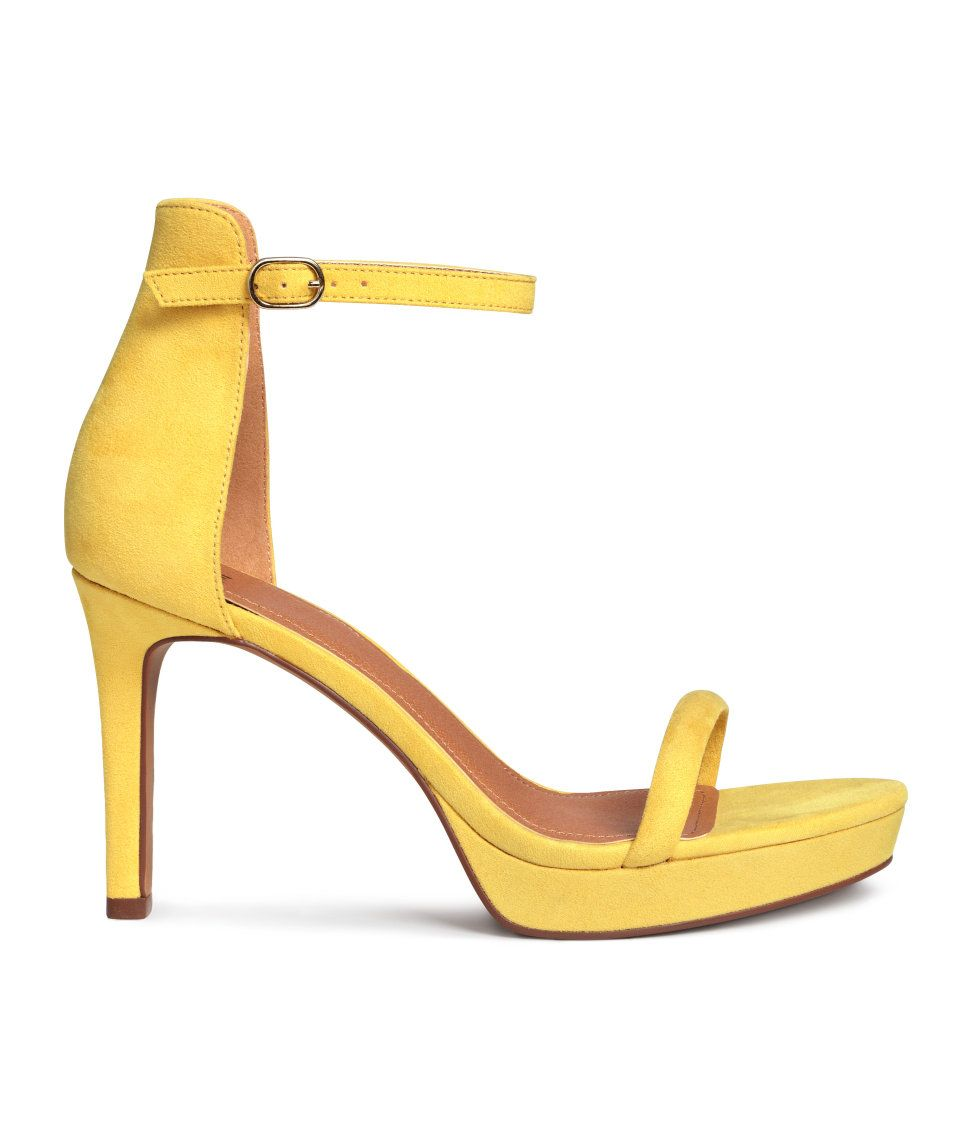 4bc8a7a40a Yellow platform sandals | H&M Shoes | H&M SHOE OBSESSION | Yellow ...