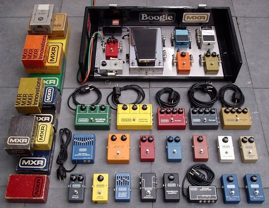 "Cerano Leeds: Complete collection of all MXR ""reference series"" pedals from 1975-1983."