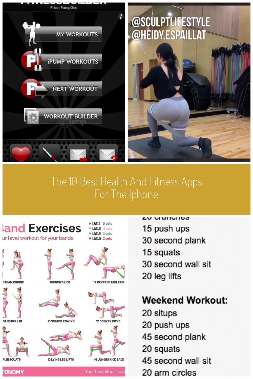 The 11 Best Exercise and Fitness Apps for the iPhone: iPump & Fitness Builder #fitness app The 10 Be...