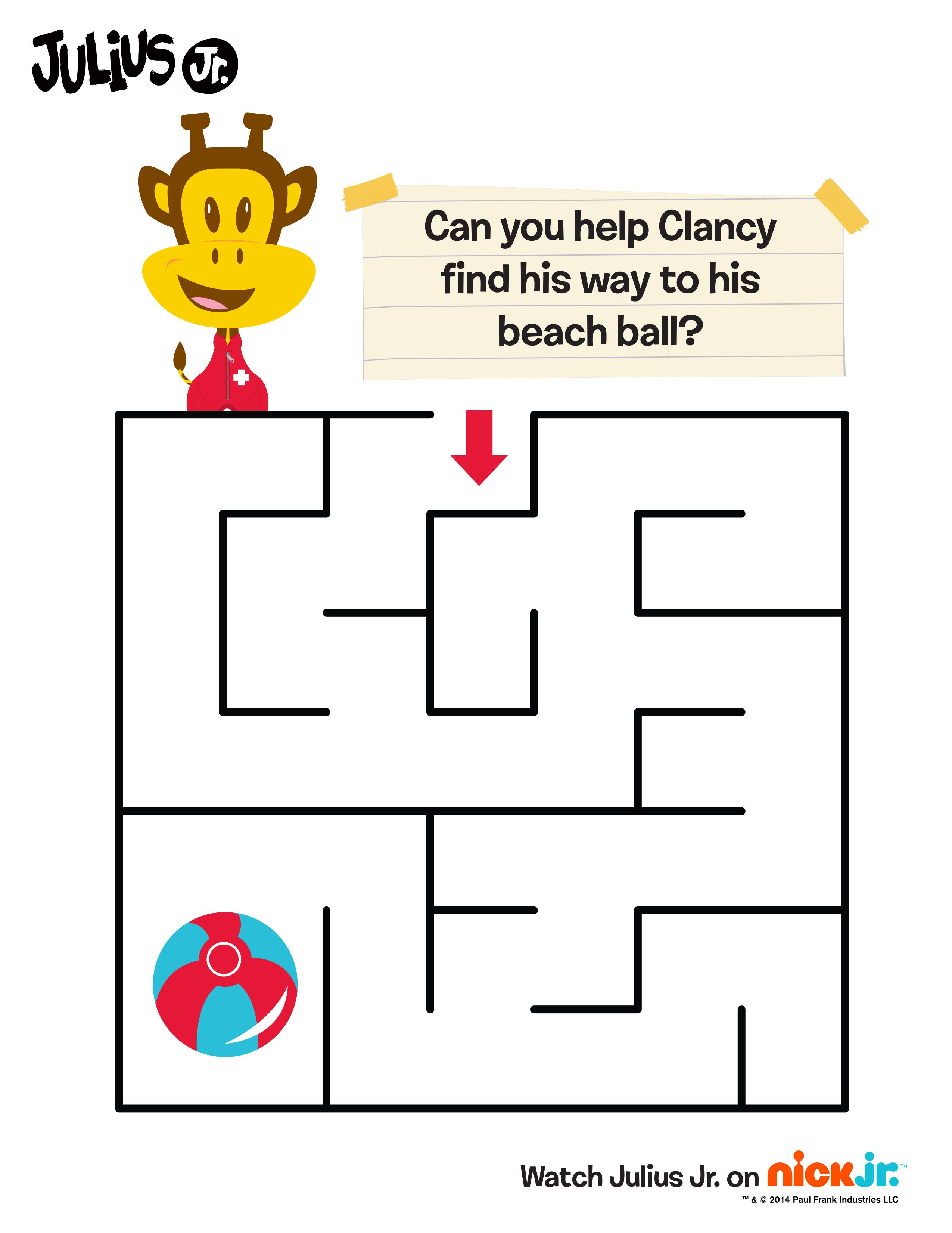 Help Clancy find his way to the beach ball! | Life in C O L O R ...