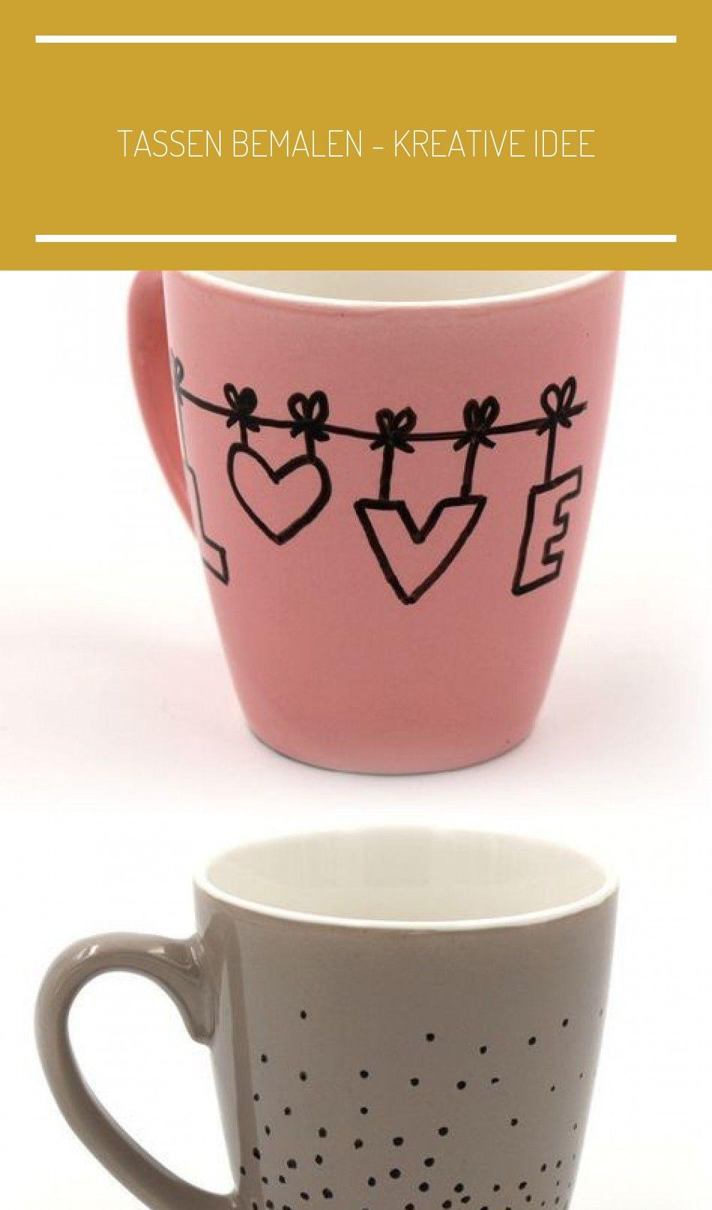 Tassen Bemalen Kreative Idee Tableware Mugs