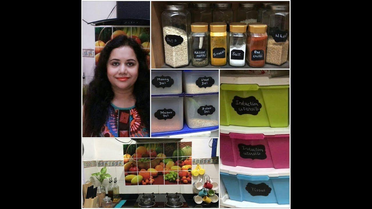 Non Modular kitchen Organization ideas   Indian kitchen tour ...