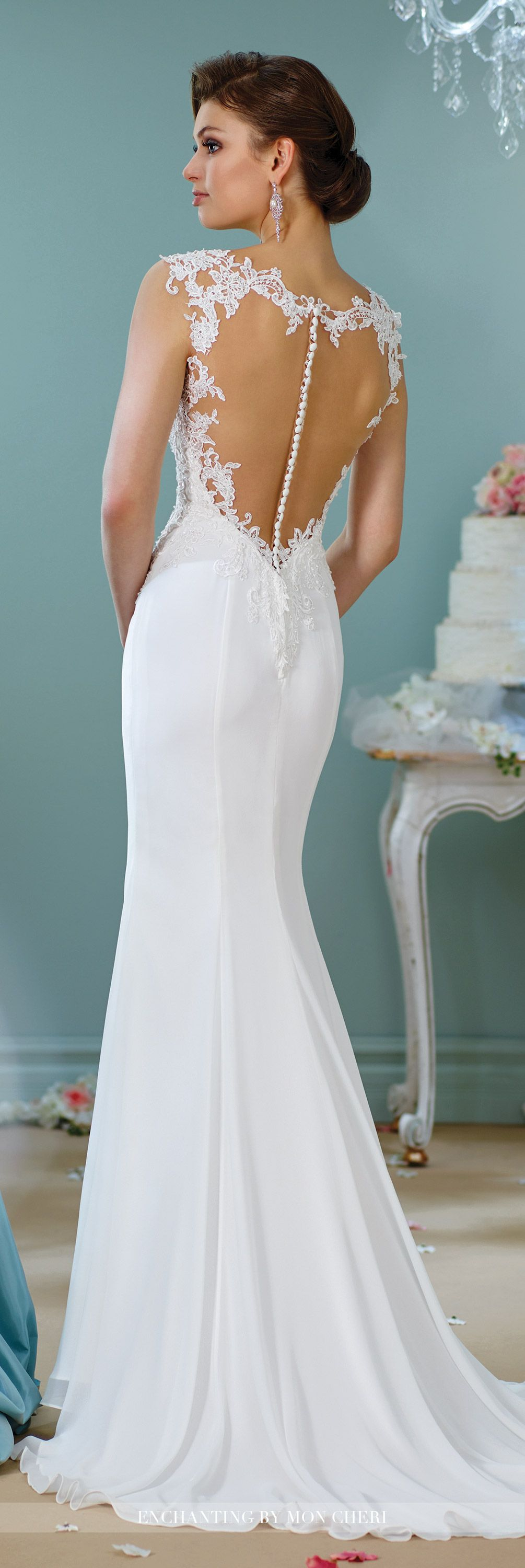 Beaded Cap Sleeve Wedding Dress-216152- Enchanting by Mon Cheri ...