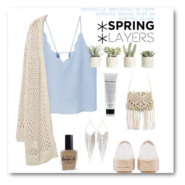 """Spring Layers"" by stylemeh on Polyvore featuring MANGO, Miu Miu, Violeta by Mango, Allstate Floral, Jules Smith, Lauren B. Beauty, cutecardigan and springlayers"