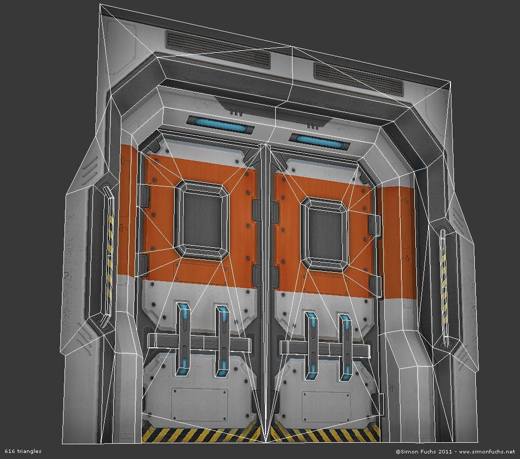 futuristic door amp large preview of 3d model of futuristic
