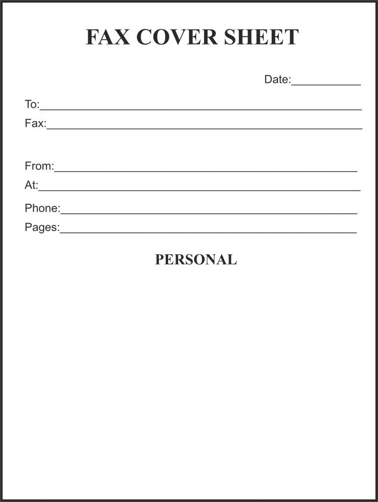 Printable Fax Cover Letter Template Large Design Most Effective
