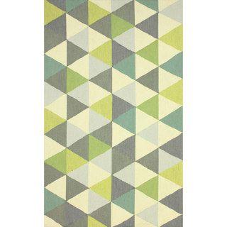 @Overstock.com   NuLOOM Hand Hooked Triangle Multi Rug (7u00276