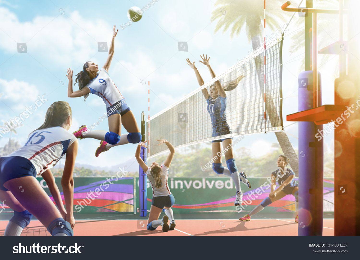 Professional Female Volleyball Players In Action On The Court Ad Professional Business Cards Marketing Marketing Business Card Professional Business Cards