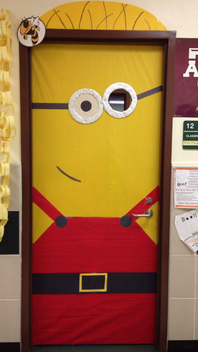 santa minion classroom door minions pinterest