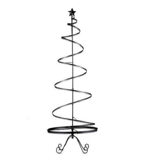 Metal Tabletop Christmas Tree: 89-Metal-Christmas-Ornament-Display-Tree-Indoor-Holiday