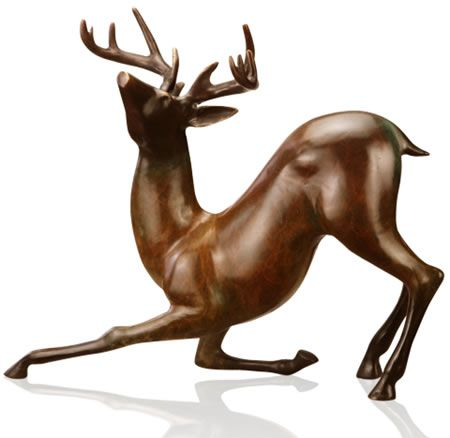 Contemporary Deer Sculpture Statue Figurine available at AllSculptures.com